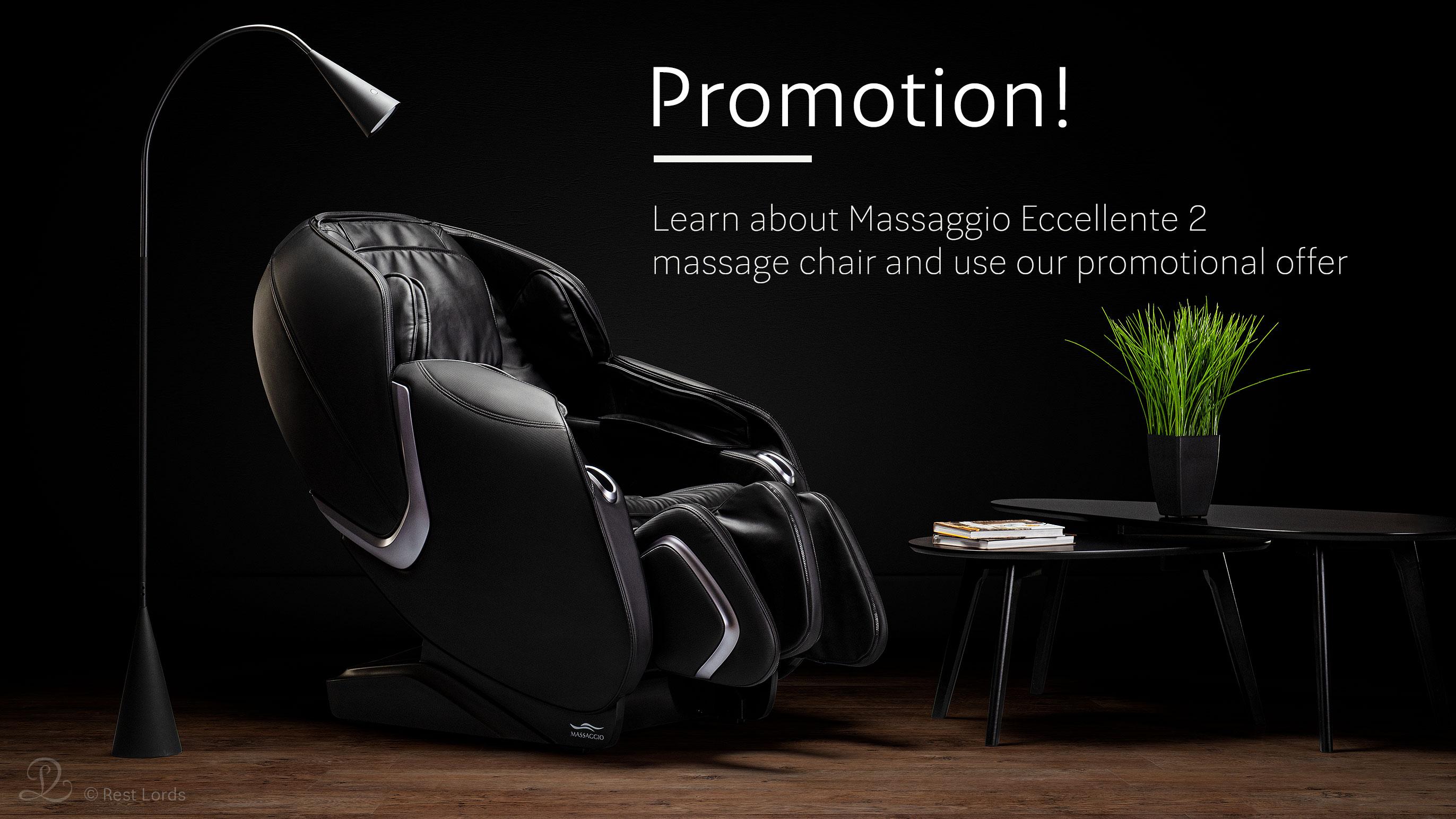 Promotion of massage chair Eccellente 2