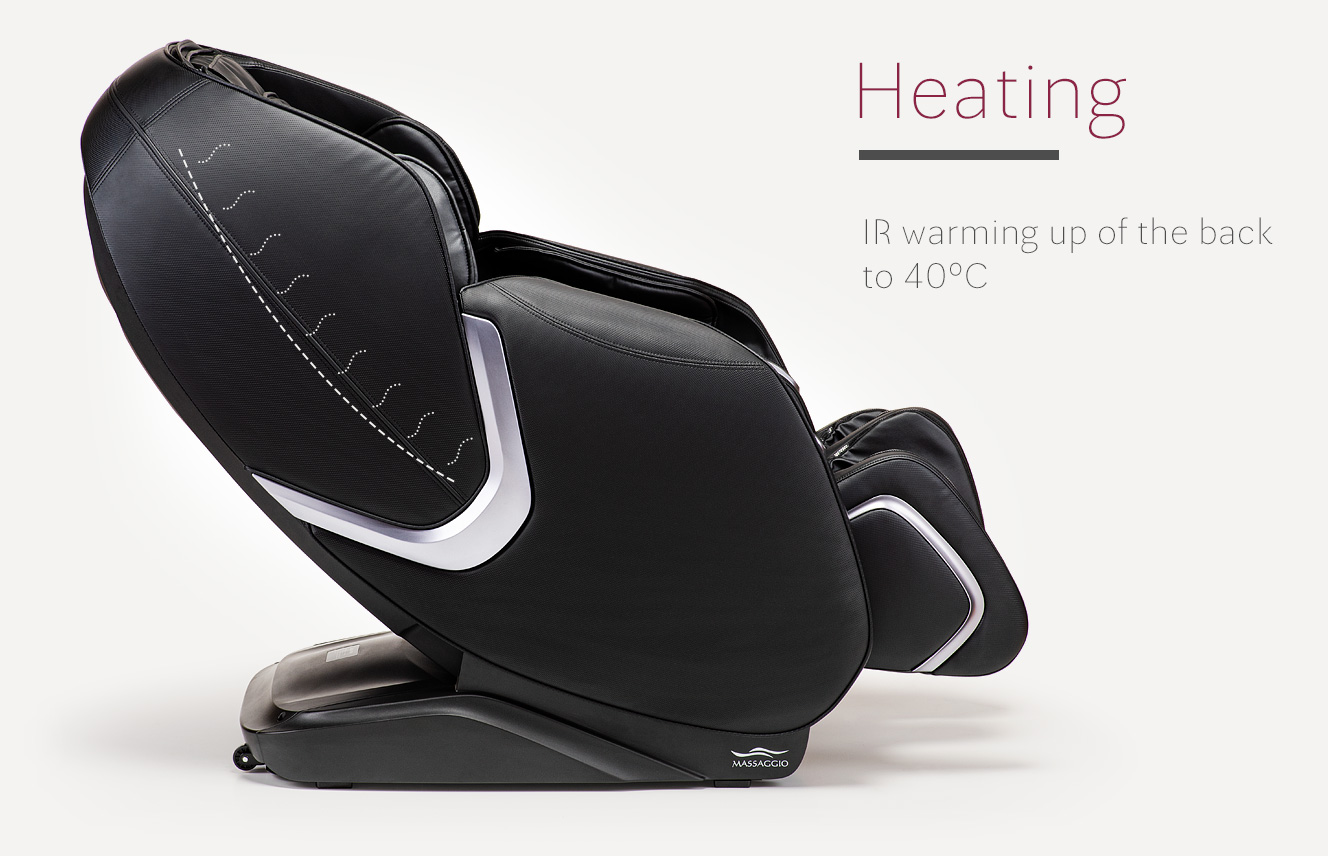 Heating in massage chair Massage Eccellente 2