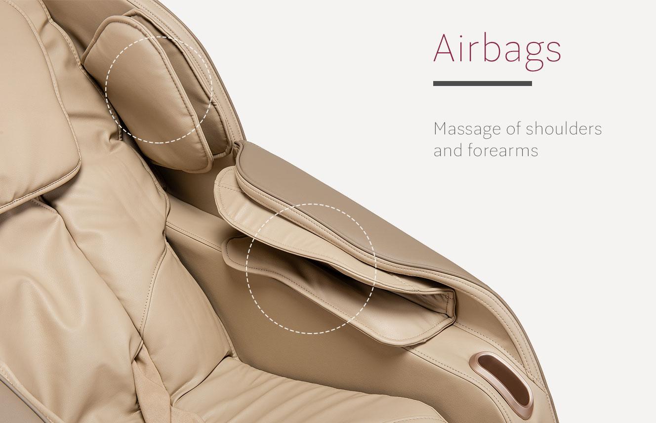 Airbags in massage chair Massaggio Eccellente 2 PRO