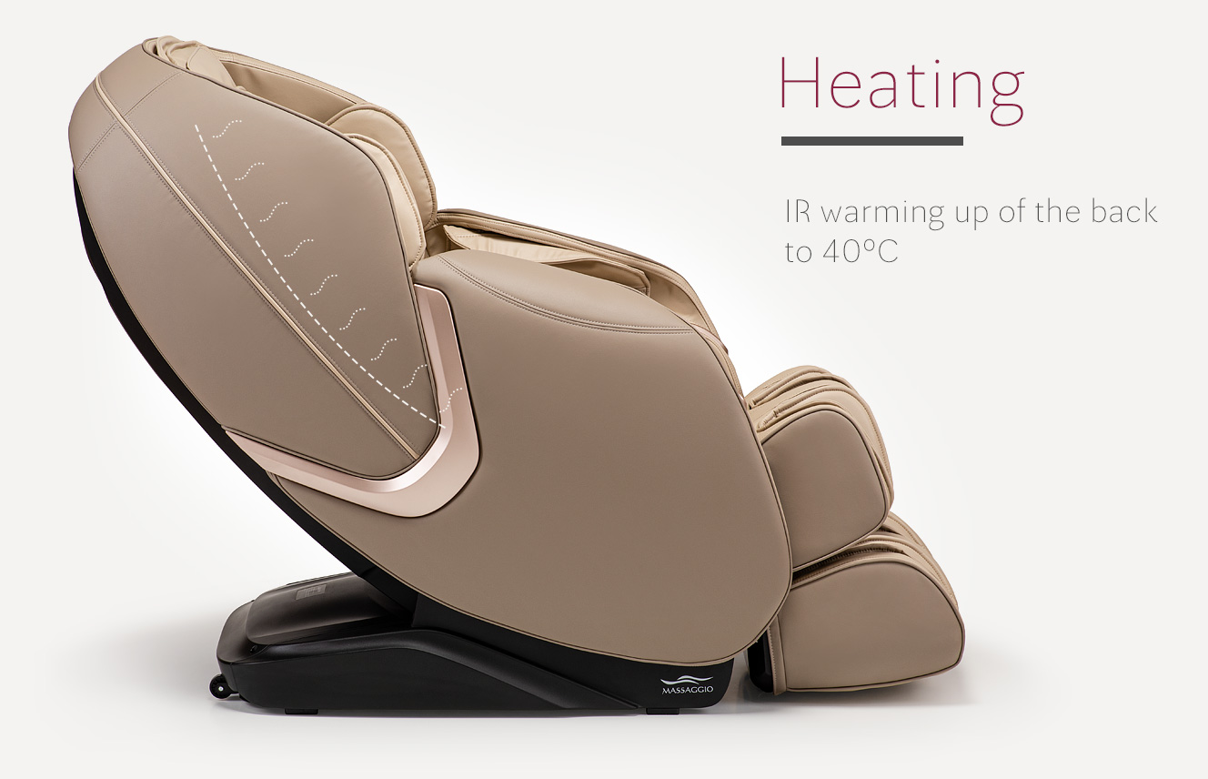 Heating in massage chair Massaggio Eccellente 2 PRO