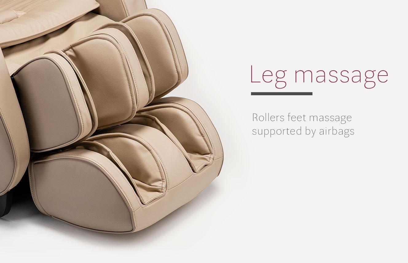 Leg massage in massge chair massaggio eccellente 2 pro