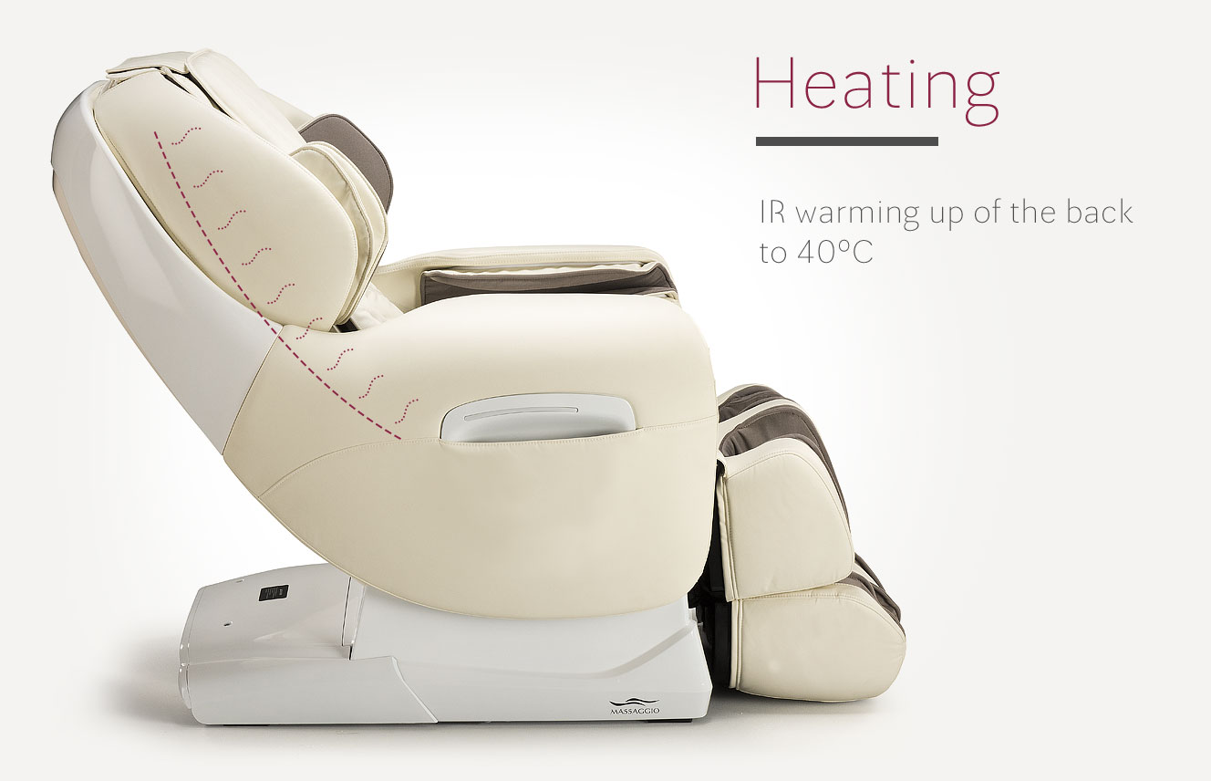 Heating in massage armchair Esclusivo