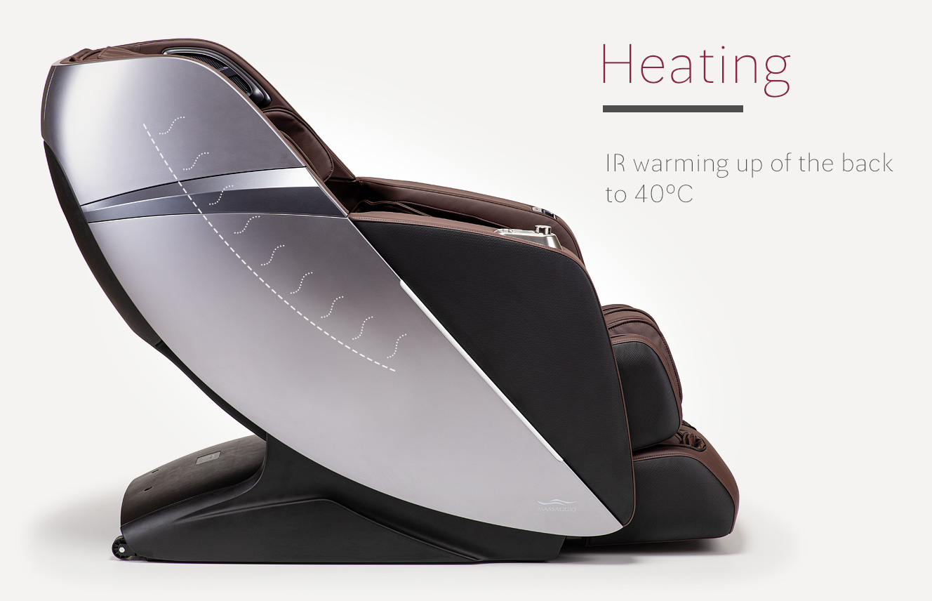 Heating in massage chair Massaggio Esclusivo 2 massage chair