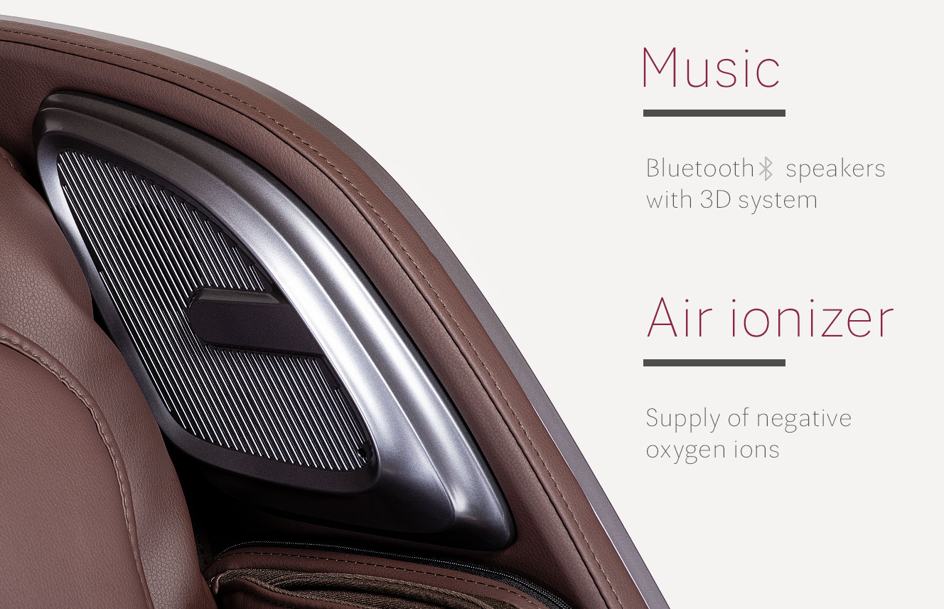 Music and air ioniser in Massaggio Esclusivo 2 massage chair