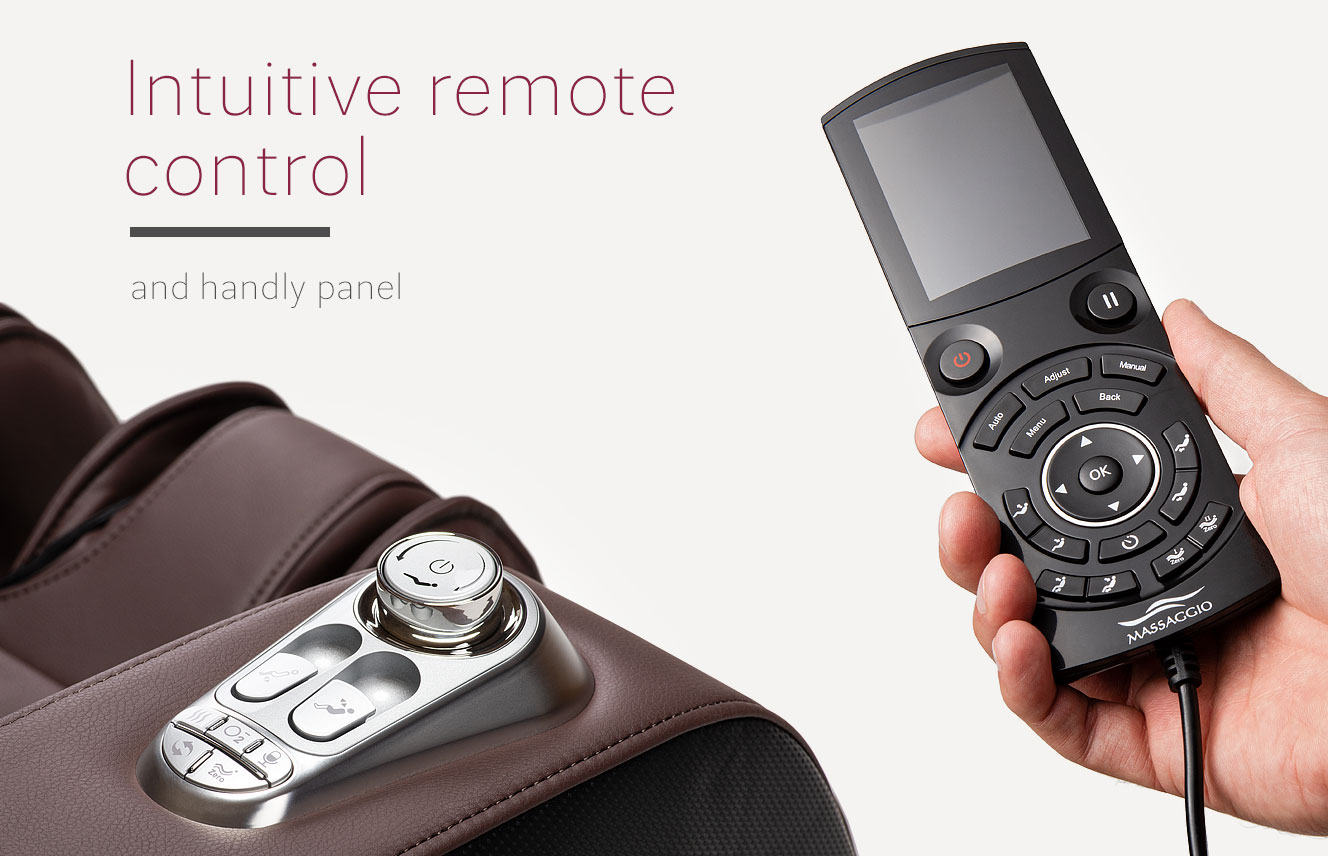 Remote control in massage chair Massaggio Esclusivo 2