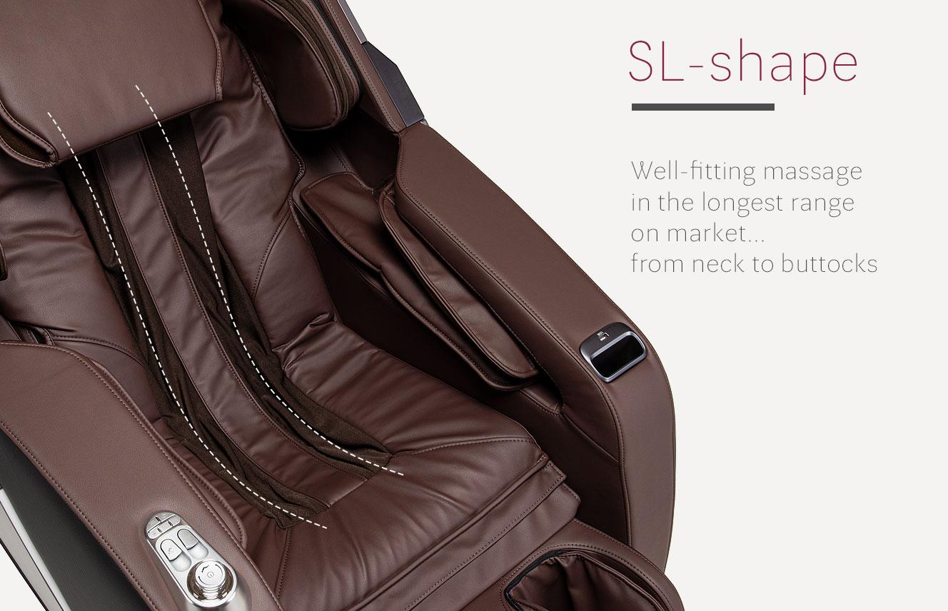 SL-Shape in massage chair Massaggio Esclusivo 2