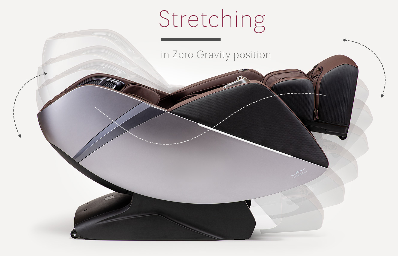 Stretching in massage chair Massaggio Esclusivo 2