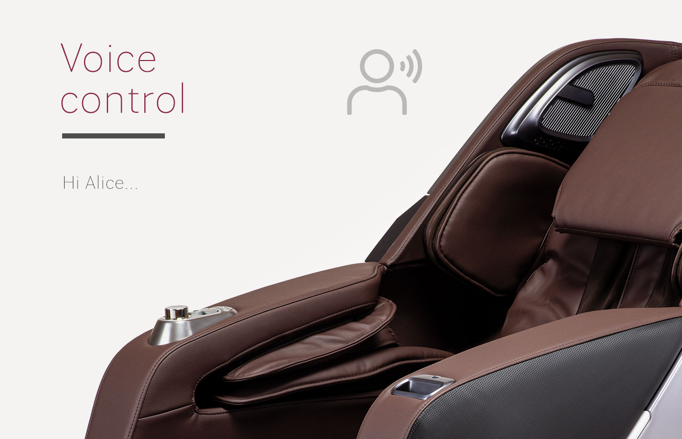 Voice control in Massaggio Esclusivo 2 massage chair