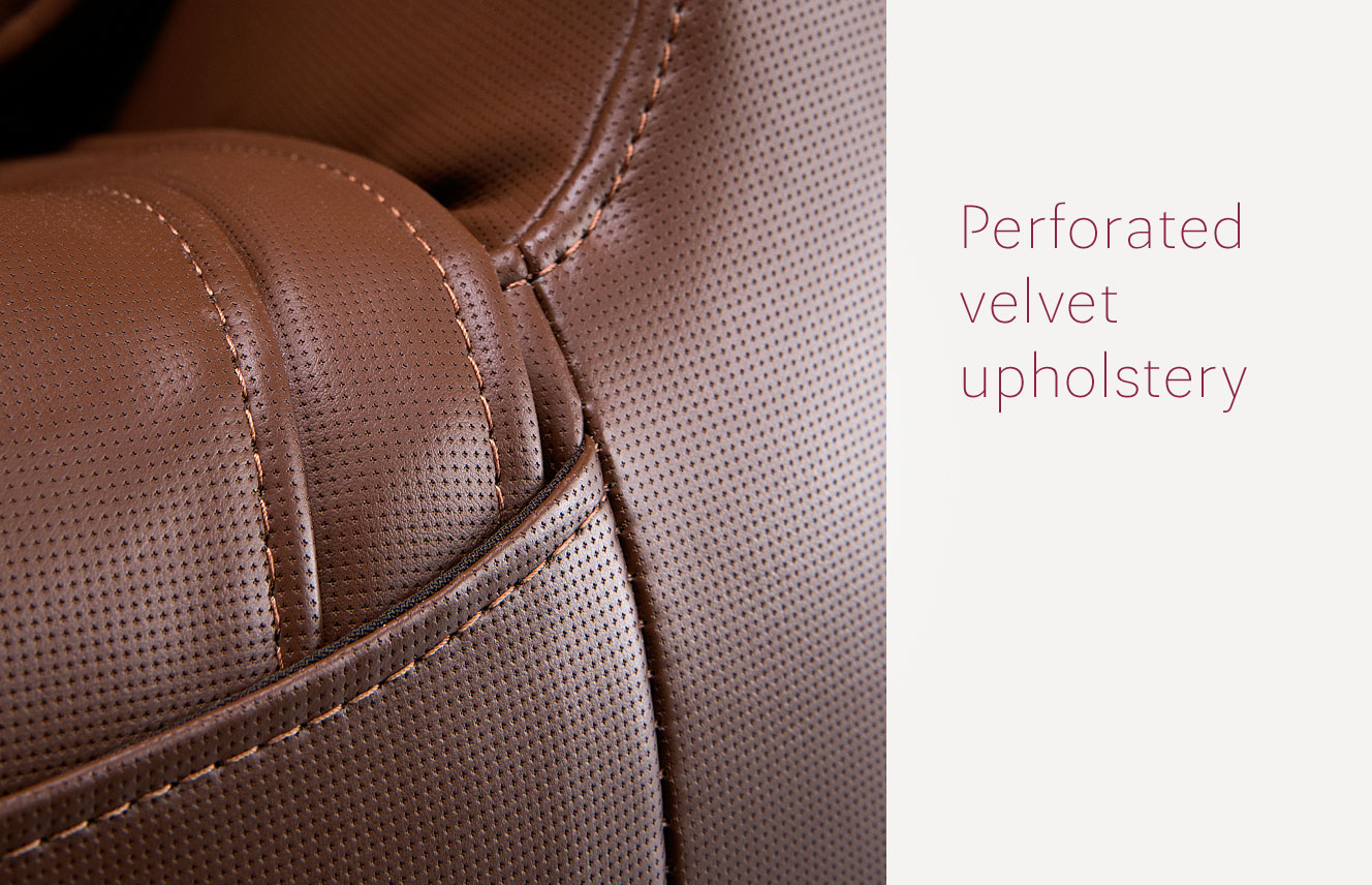 Perforated velvet upholstery