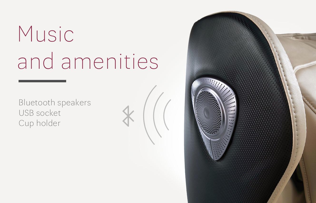 Bluetooth in massage armchair