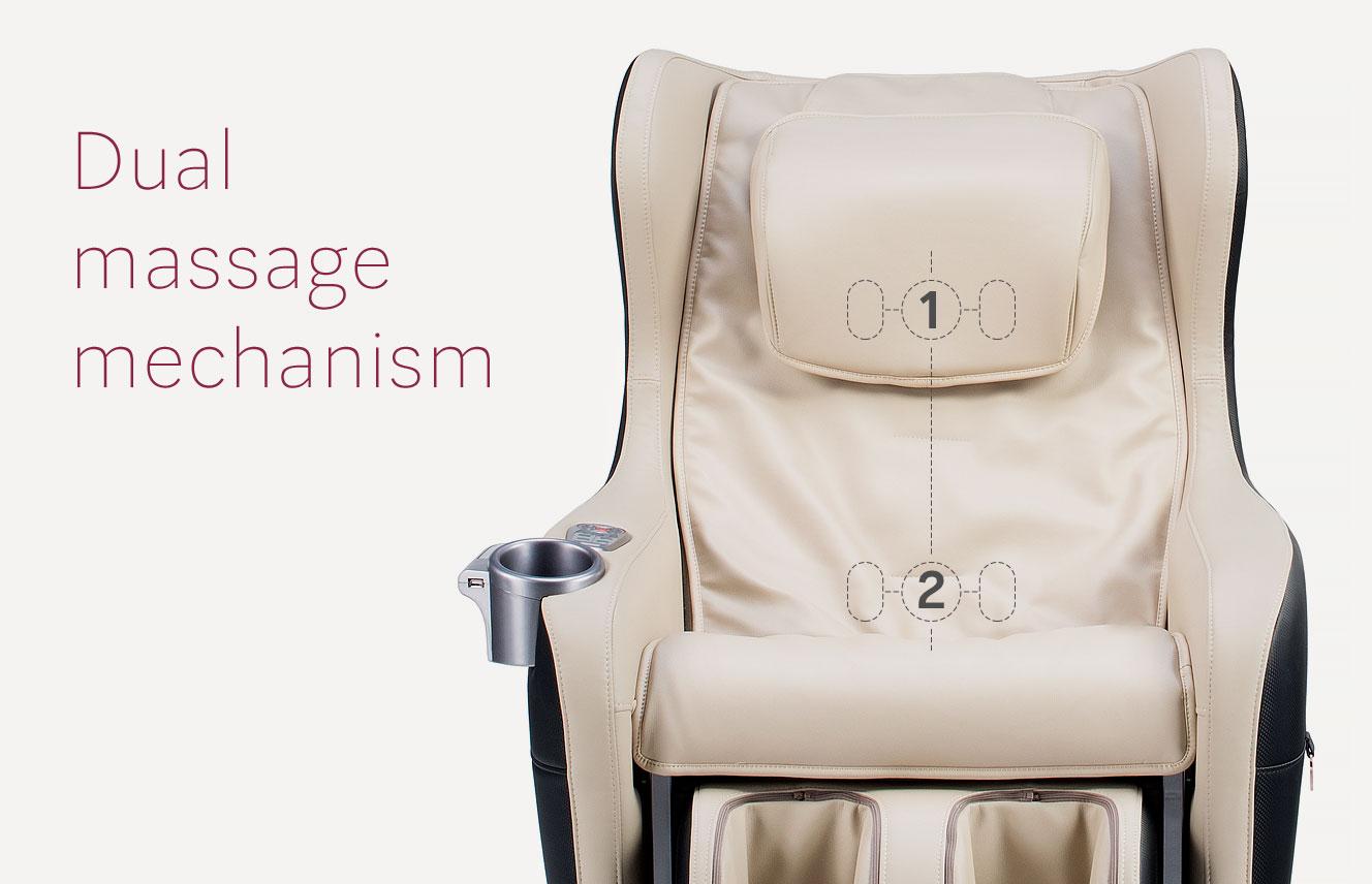 Dual massage mechanism