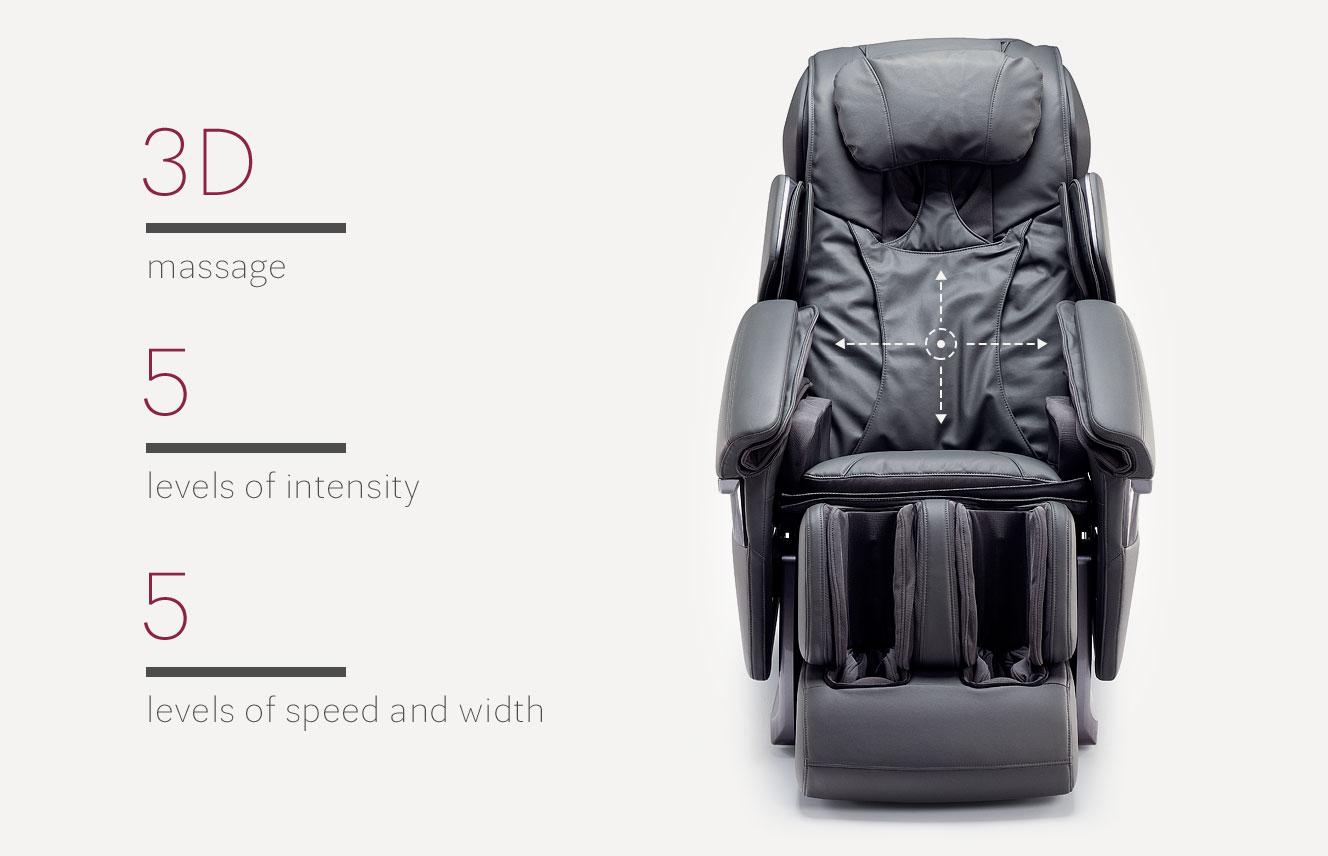 3d massage in massage armchair