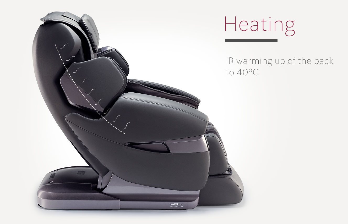 Heating in massage chair