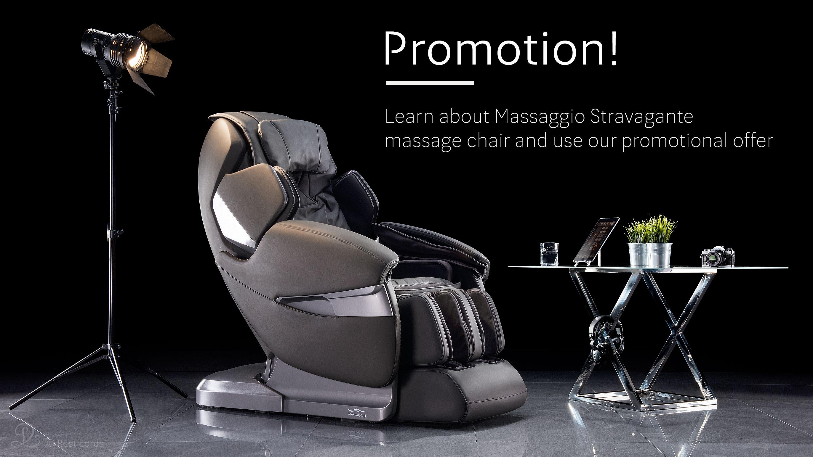 Massage chair Massaggio Stravagante on sale promotion
