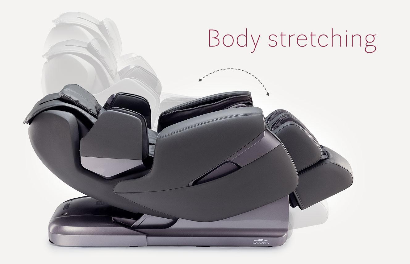 Body stretching in massage chair Stravagante