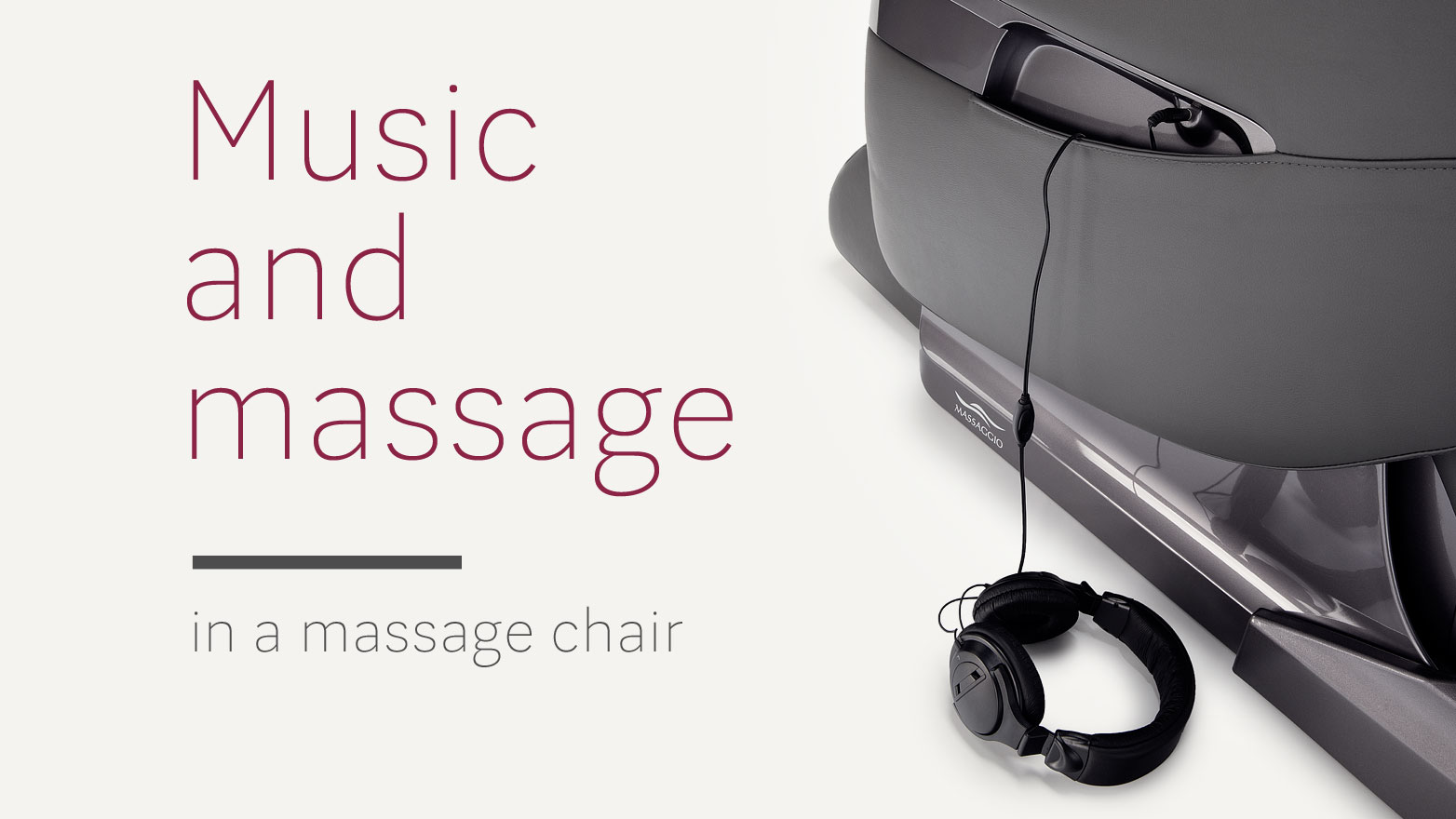 Music in massage chair