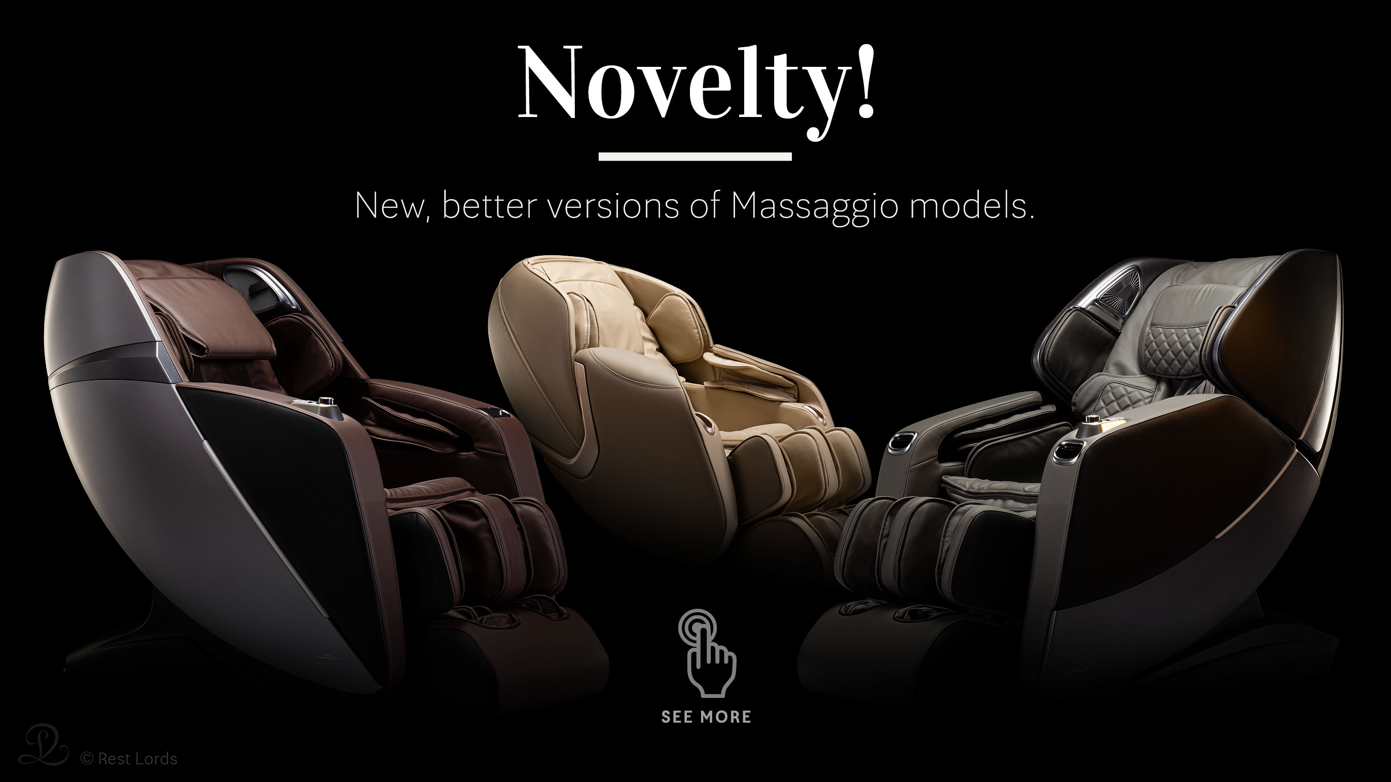 Novelty in Massaggio brand - new massage chairs