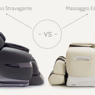 Massage chairs Massaggio Esclusivo vs Stravagante