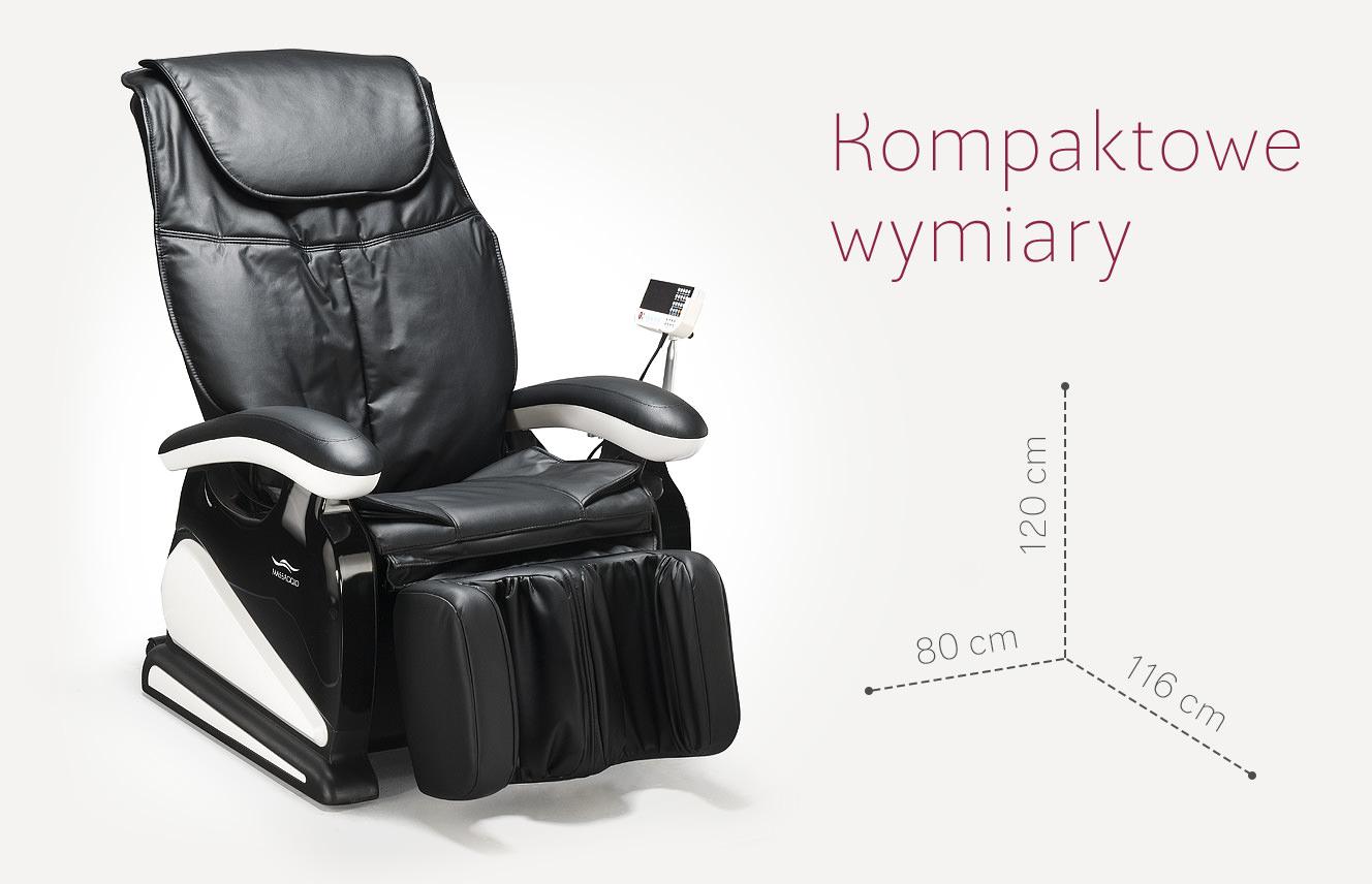 Fotel masujący Massagio Bello wymiary