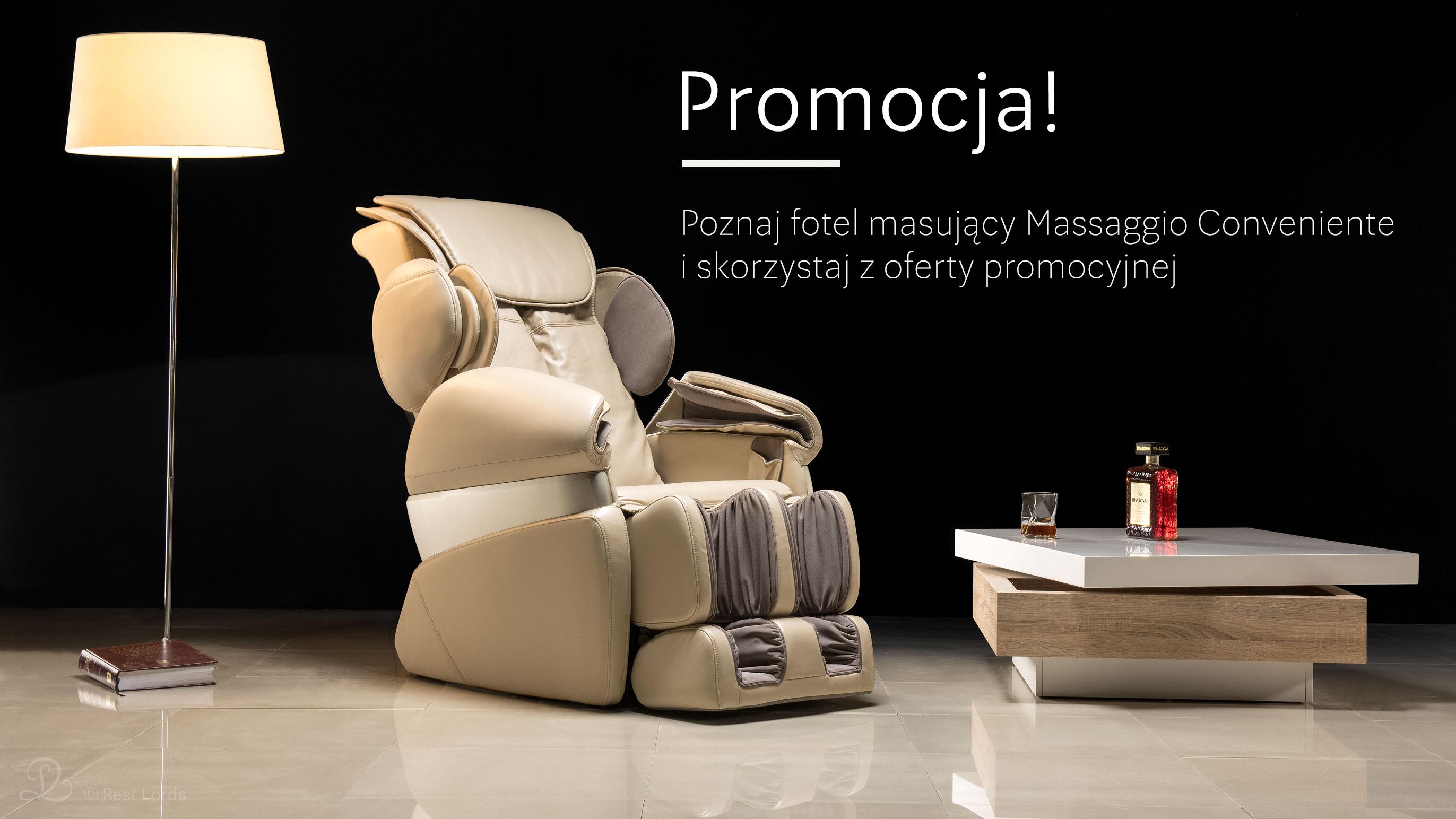 Fotel masujący Massaggio Conveniente promocja wyprzedaż