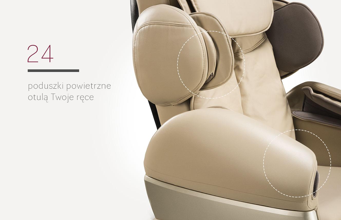 Poduszki powietrzne w fotelu masującym Massaggio Conveniente
