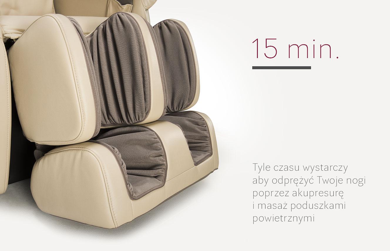 Długość masażu w fotelu masującym Massaggio Conveniente