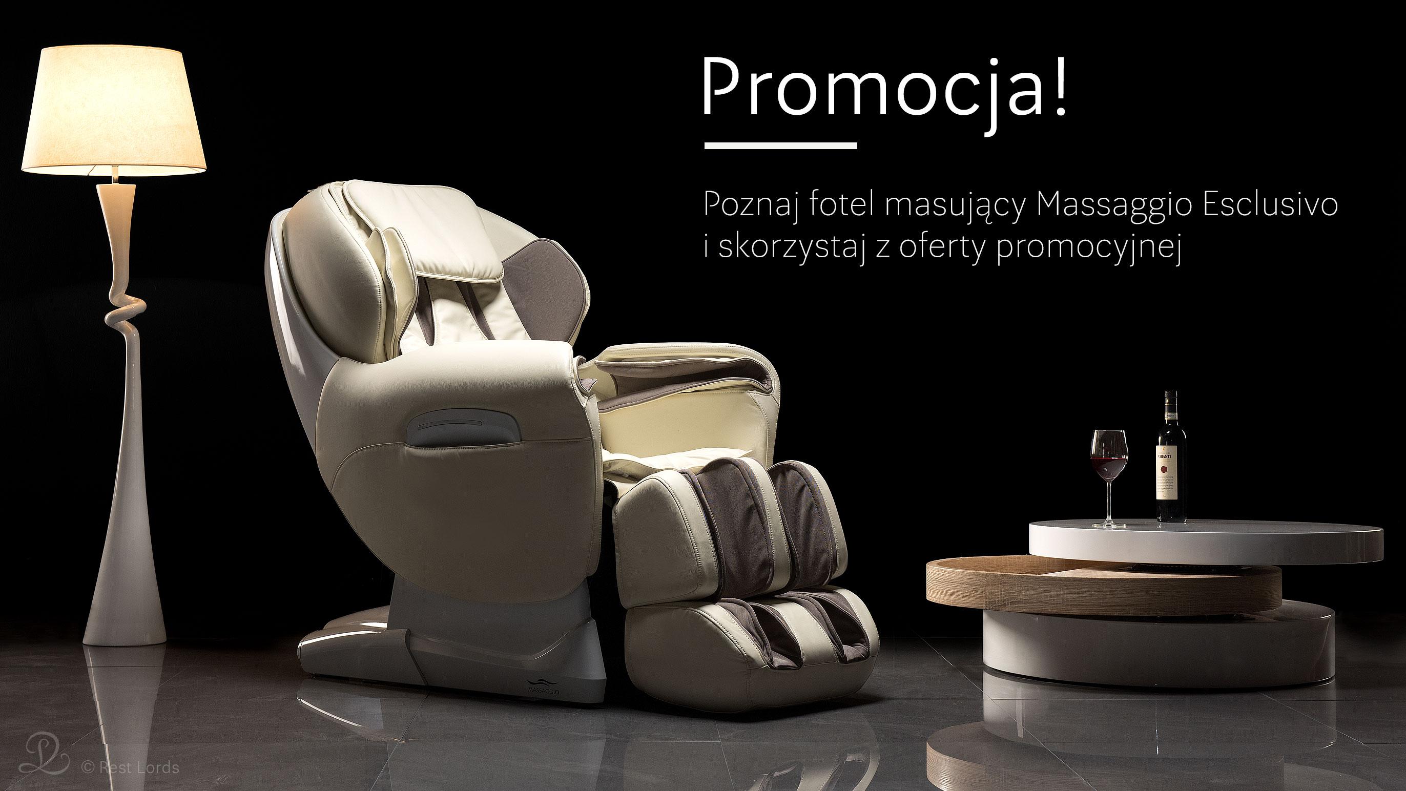 Oferta promocyjna Fotel masujący Massaggio Esclusivo promocja wyprzedaż