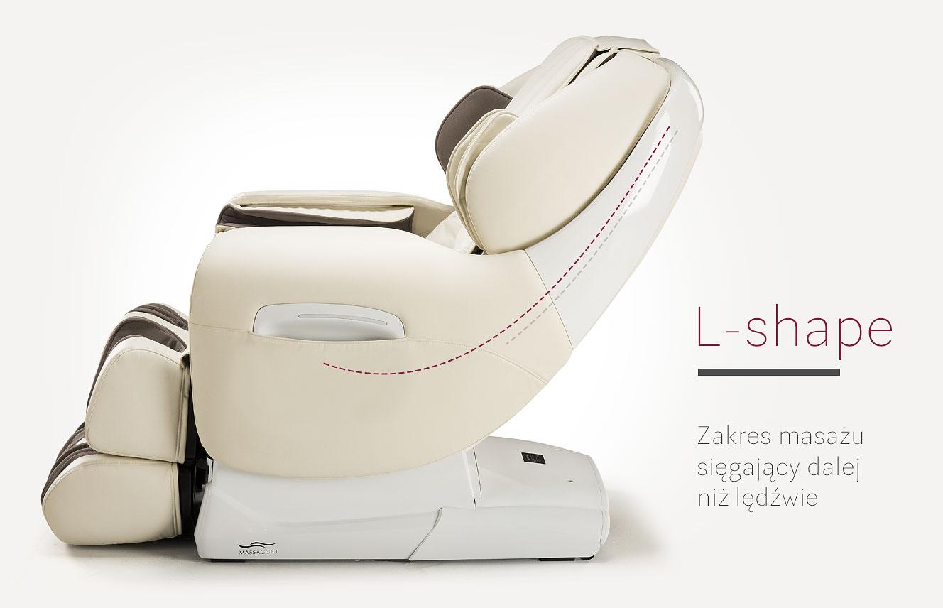 System L-shape w fotelu masującym ESCLUSIVO