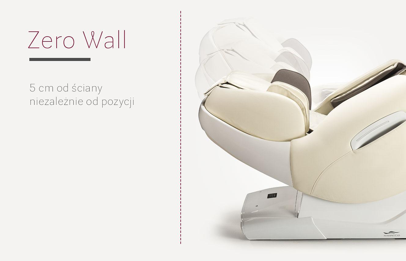 System Zero Wall w fotelu masującym Massaggio Esclusivo