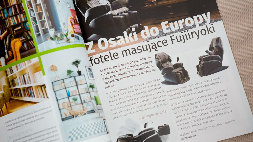 Massage chair Rest Lords at Comfort Life magazine 1