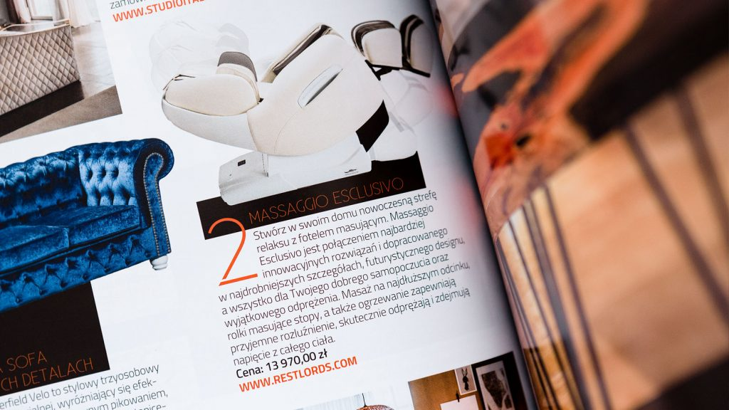 Massage chair Rest Lords at Decoration and Design magazine 1