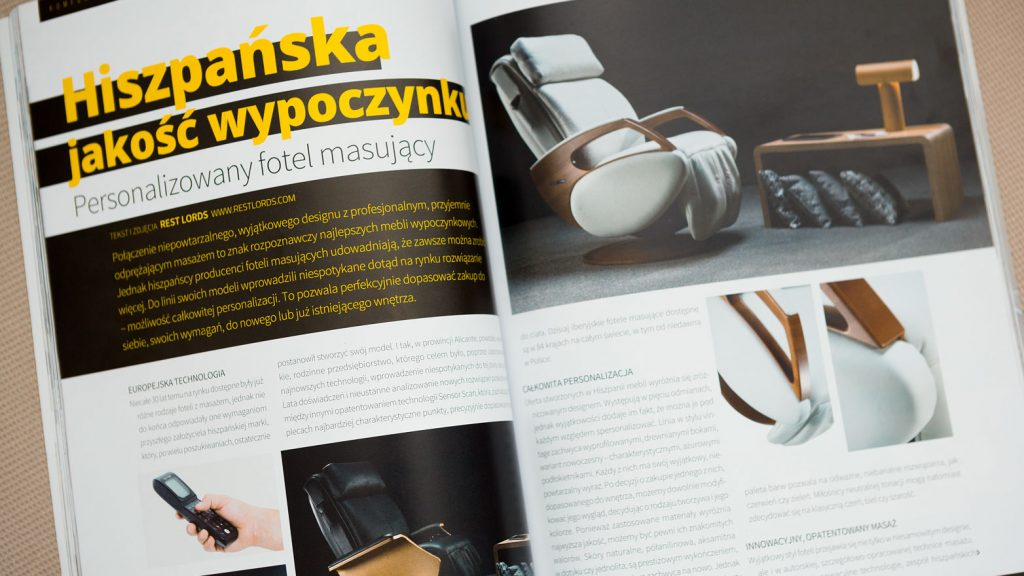 Massage chair Rest Lords at Decoration & Design magazine 1a