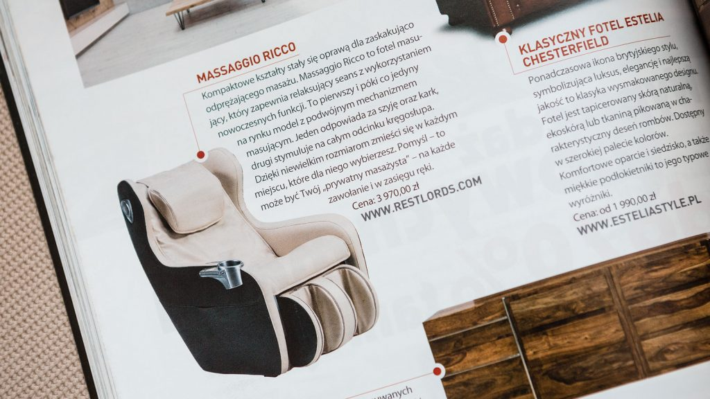 Massage chair Rest Lords at Living Room magazine 1