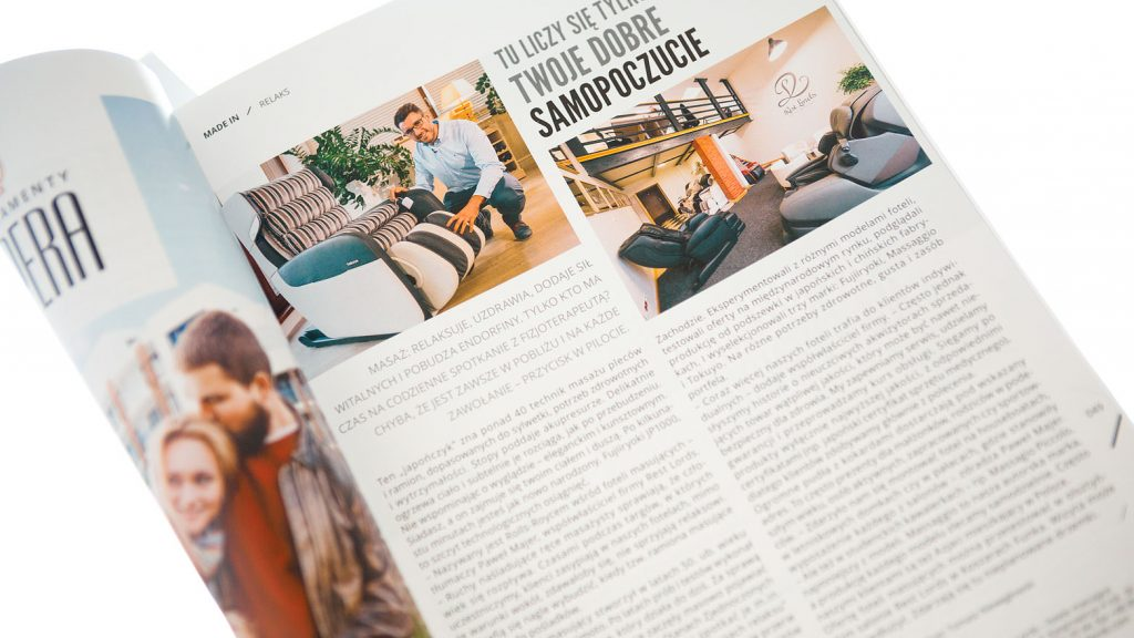 Massage chair Rest Lords at Made in Warmia&Mazury magazine 1