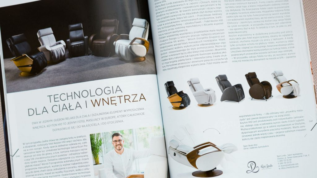 Massage chair Rest Lords at Made in Warmia&Mazury magazine 1A