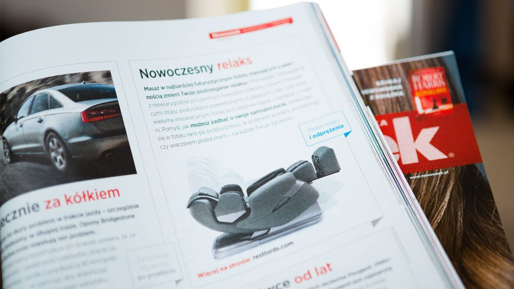 Massage chair Rest Lords at  Newsweek magazine 1
