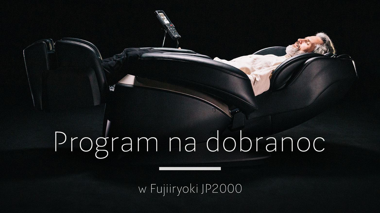 Program na dobranoc w fotelu masującym