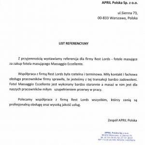 Referencje April Polska