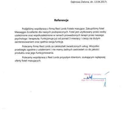 Referencje Urząd Gminy Dąbrowa Zielona