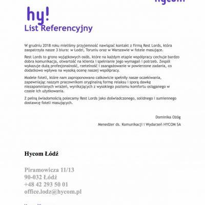 Referencje HyCom