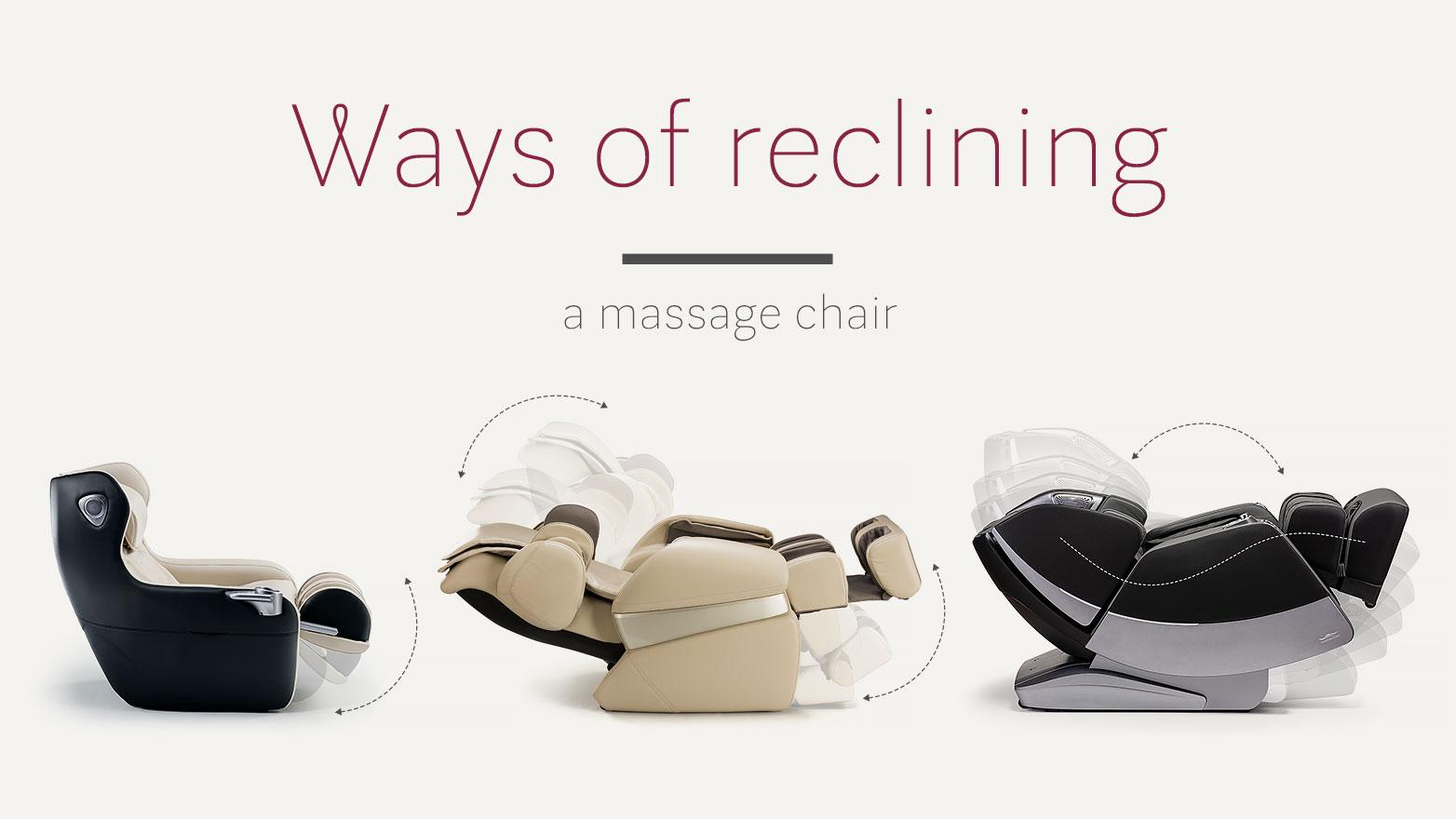 Ways of reclining massage chair