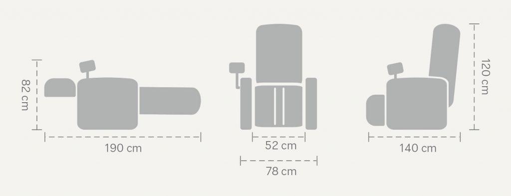 Wymiary fotela masującego Eccellente
