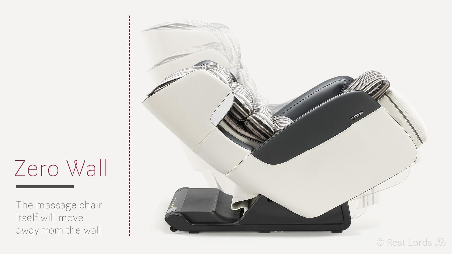 Zero wall at massage chair